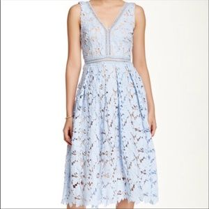 Romeo and Juliet Couture Blue lace overlay dress M